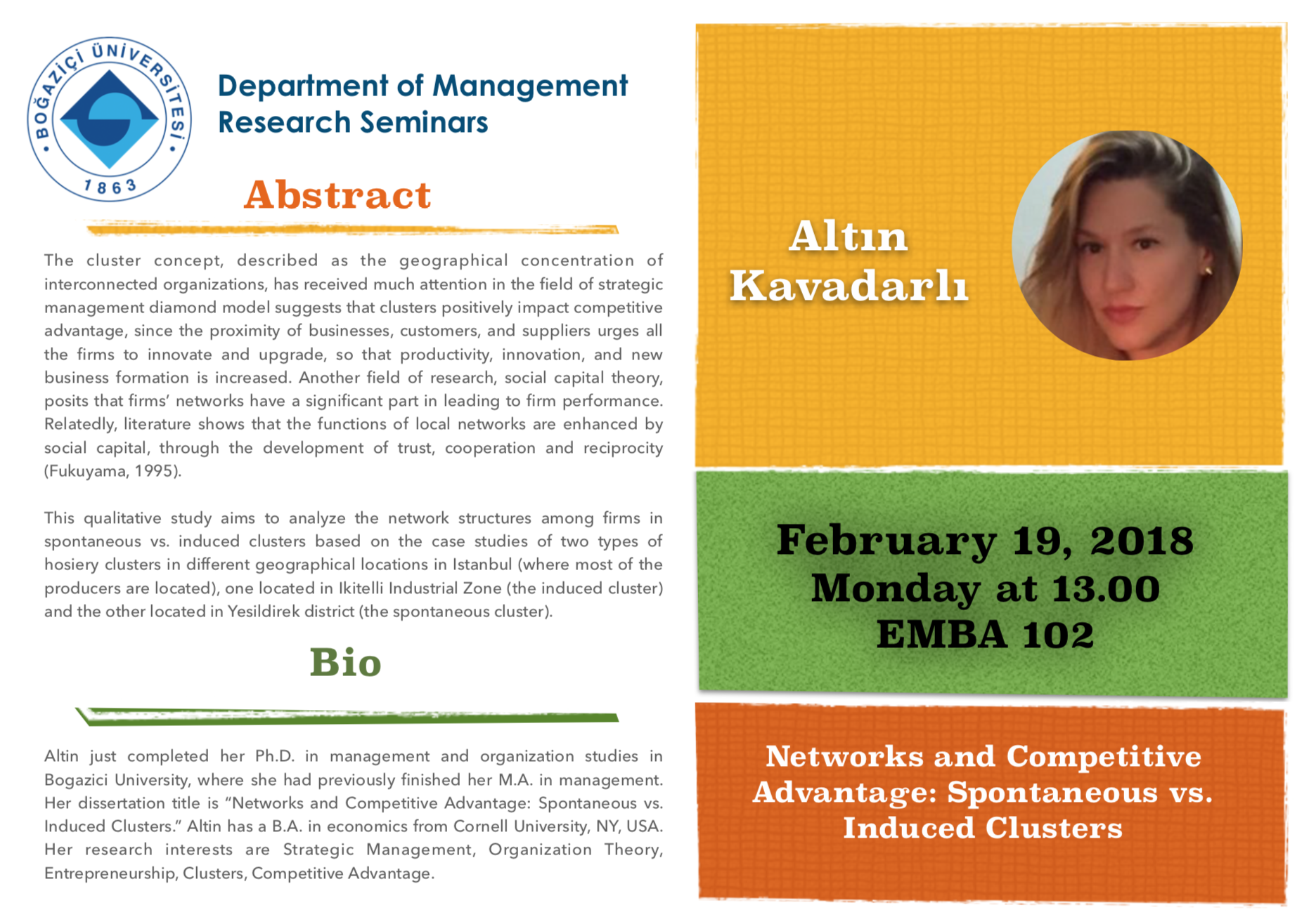 Research Seminar: Spontaneous vs  Induced Clusters | Department of